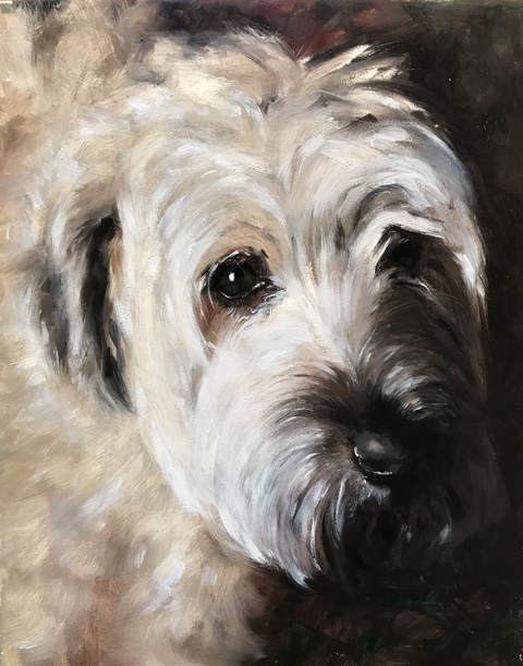 MARY MORANT Dog Portraits Oil on board