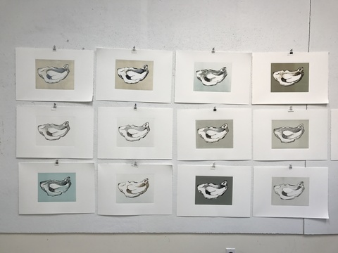 MARY MORANT Printmaking Monotypes