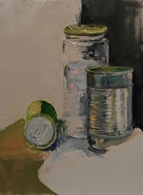 Paintings     Still-life with Cans and Jar  1/10