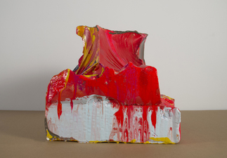 Sculpture hydrocal, acrylic, oil and enamel
