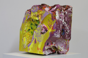 Sculpture oil, acrylic, enamel on gypsum cement with plastic