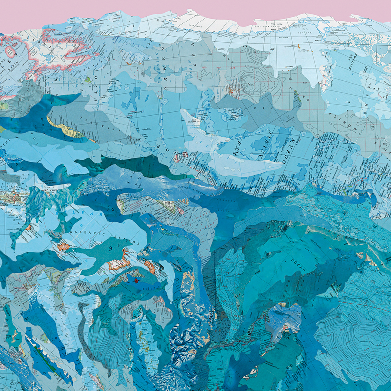 matthew cusick paintings collage map works