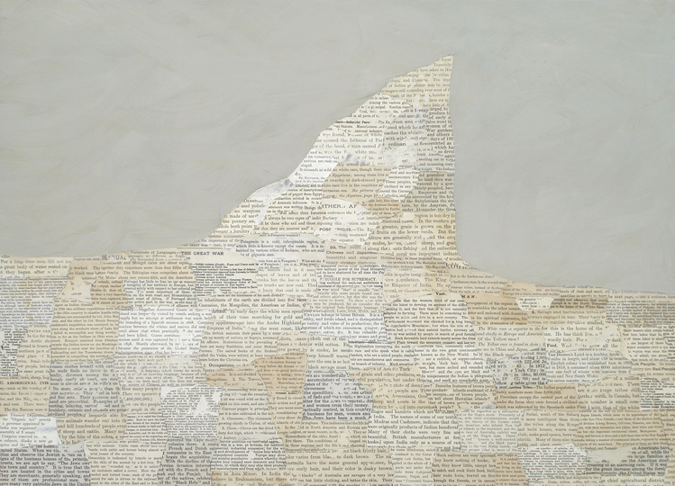 Matthew Cusick Passages Inlaid text, acrylic on panel