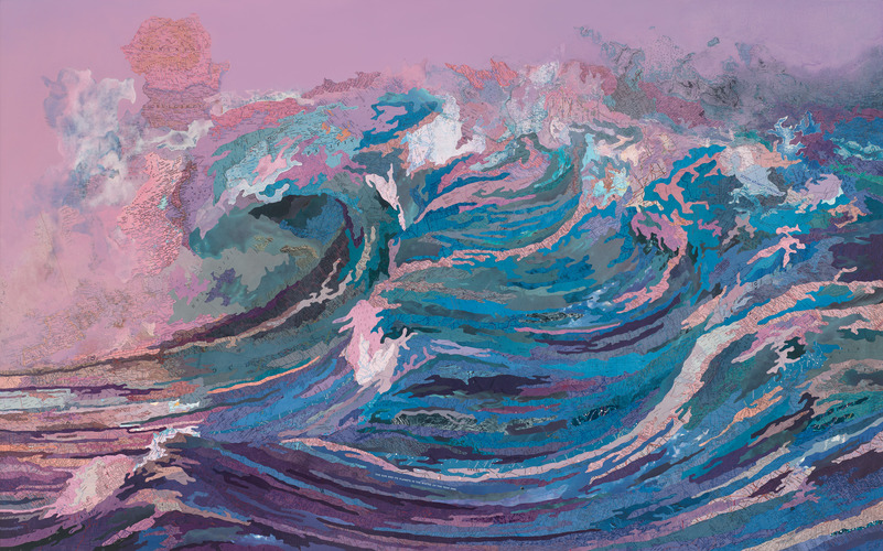 matthew cusick   paintings  u0026 collage   map works