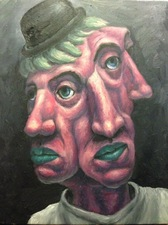Matthew Lahm Surrealist Portraits 2017-18 oil on canvas