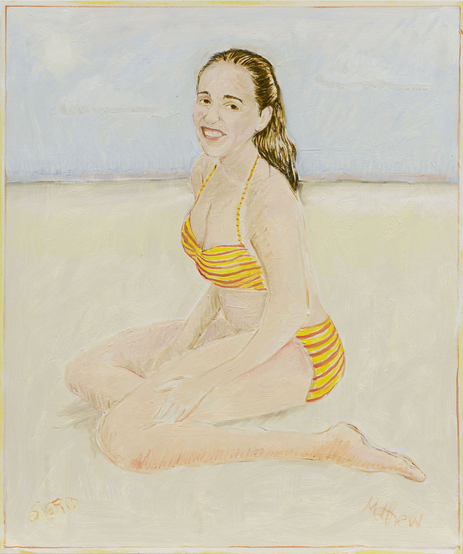 Paintings Sigrid at the Beach