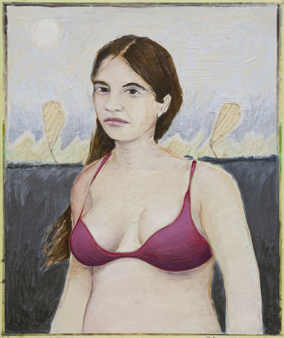 Paintings Woman in a Fuscia Bra