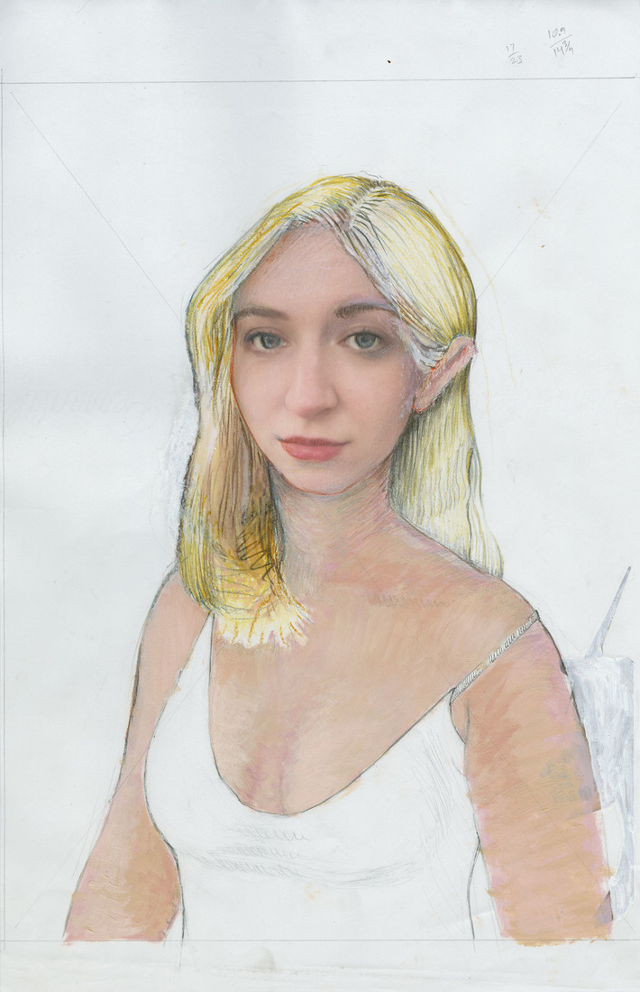 Portrait Works on Paper Chloe Canter