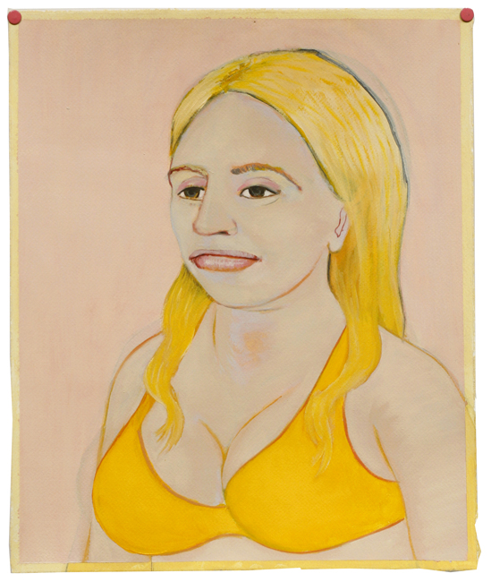 Paintings Woman in a yellow swimsuit