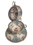 MAXWELL'S 9.13.34 Porcelain & China 4 pc. 2 cups / 2 saucers