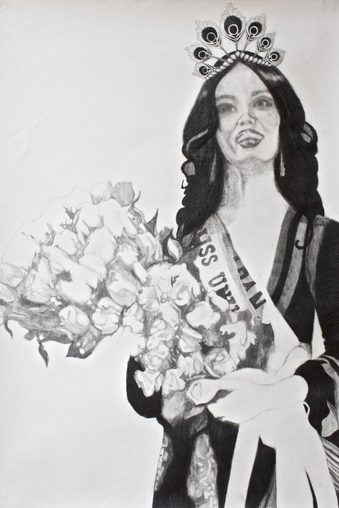 MEAGHAN CARPENTER Beauty Queens graphite on paper