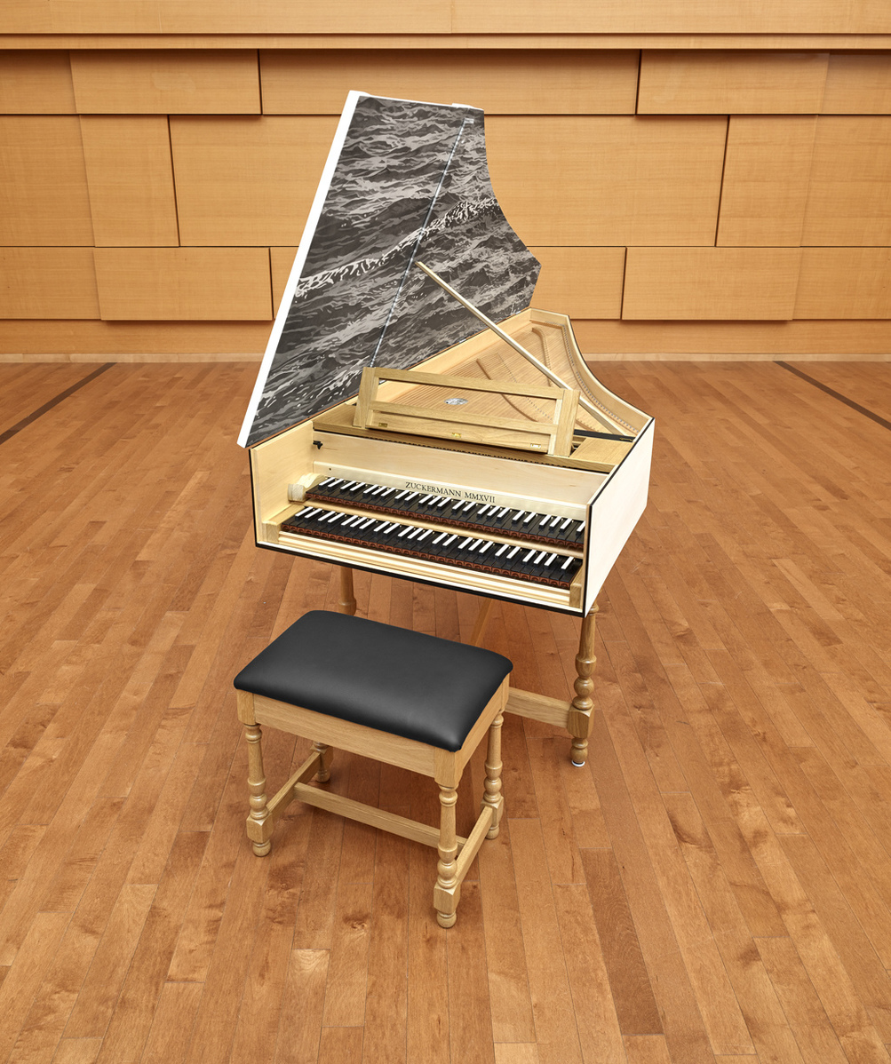 harpsichord decoration for Middlesex School