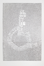 Meg Alexander Place Value, Cornelius Ayer Wood Gallery Aluminum Foil Impression