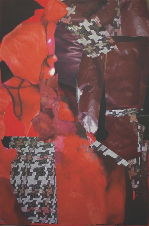 painting & collage Untitled (Mommie Dearest's suit)