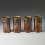 Cups and Mugs stoneware, shino liner, natural ash glaze