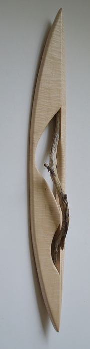 Melinda Rosenberg Boats driftwood and curly maple