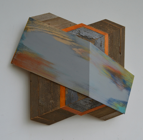 Melinda Rosenberg Board Series aniline dyes and paint on ash, maple, and cedar