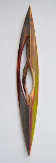 Melinda Rosenberg Boats aniline dyes and paint on pine and stick