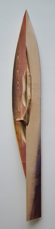 Melinda Rosenberg Boats aniline dyes and paint on pine and curly maple