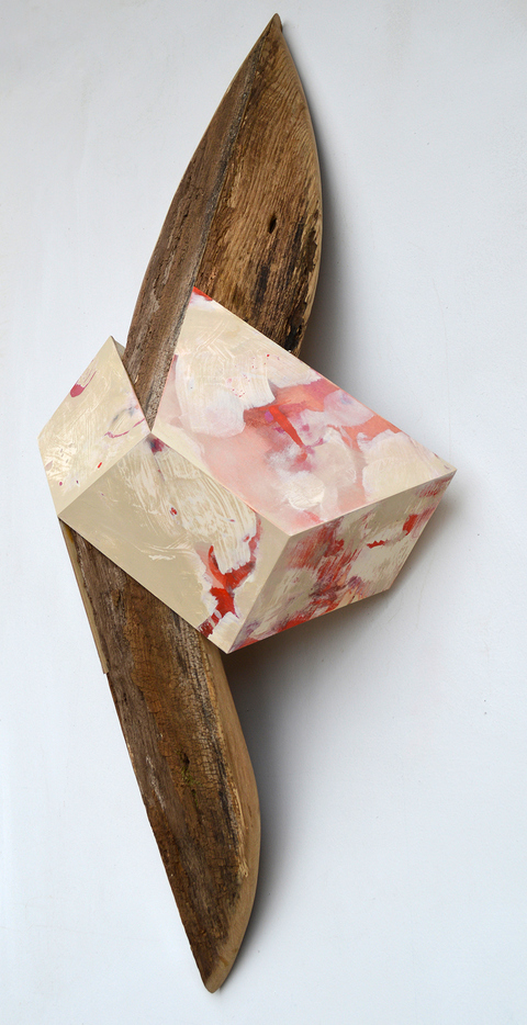 Melinda Rosenberg Unfolding old wood and paint on plywood
