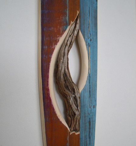 Melinda Rosenberg Boats mesquite, found wood and painted pine
