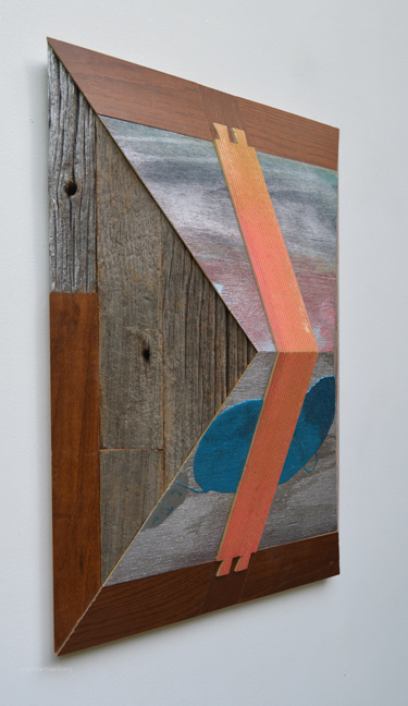 Melinda Rosenberg Pitch Series glitter, painted plywood, ribbed pine and barn wood