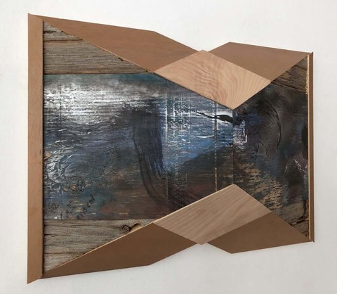 Melinda Rosenberg Pitch Series painted plywood, ash and found wood