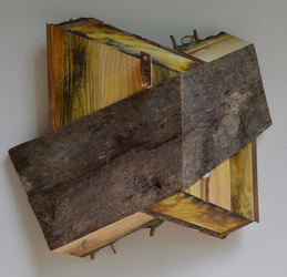 Melinda Rosenberg Board Series paint on ash, pine and barn siding