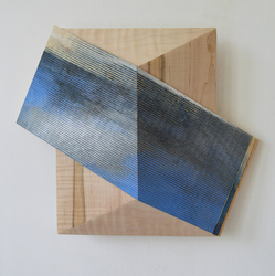Melinda Rosenberg Board Series paint on ribbed pine and maple