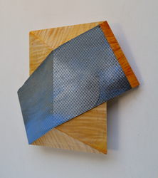 Melinda Rosenberg Board Series  aniline dyes and paint on pressed pine and curly maple