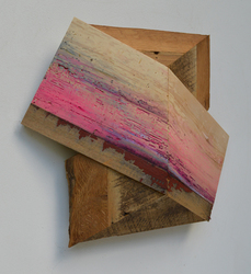 Melinda Rosenberg Board Series paint on pine and barn siding