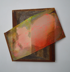 Melinda Rosenberg Board Series paint on pine and found wood