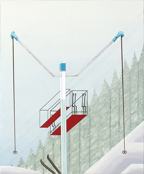 Paintings 2000 to present Skier