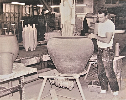 Michael and Penny Arntz Studio Photos Clay and lots of it.