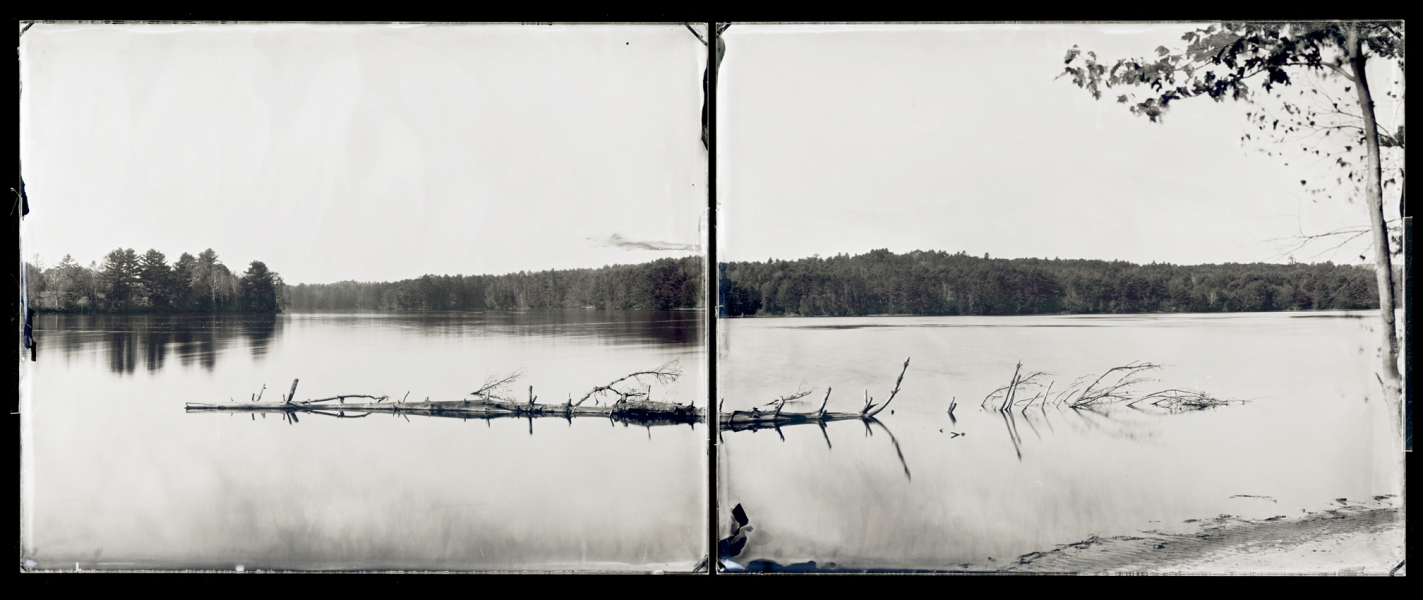 Michael Kolster Androscoggin River (ME) ambrotype diptych