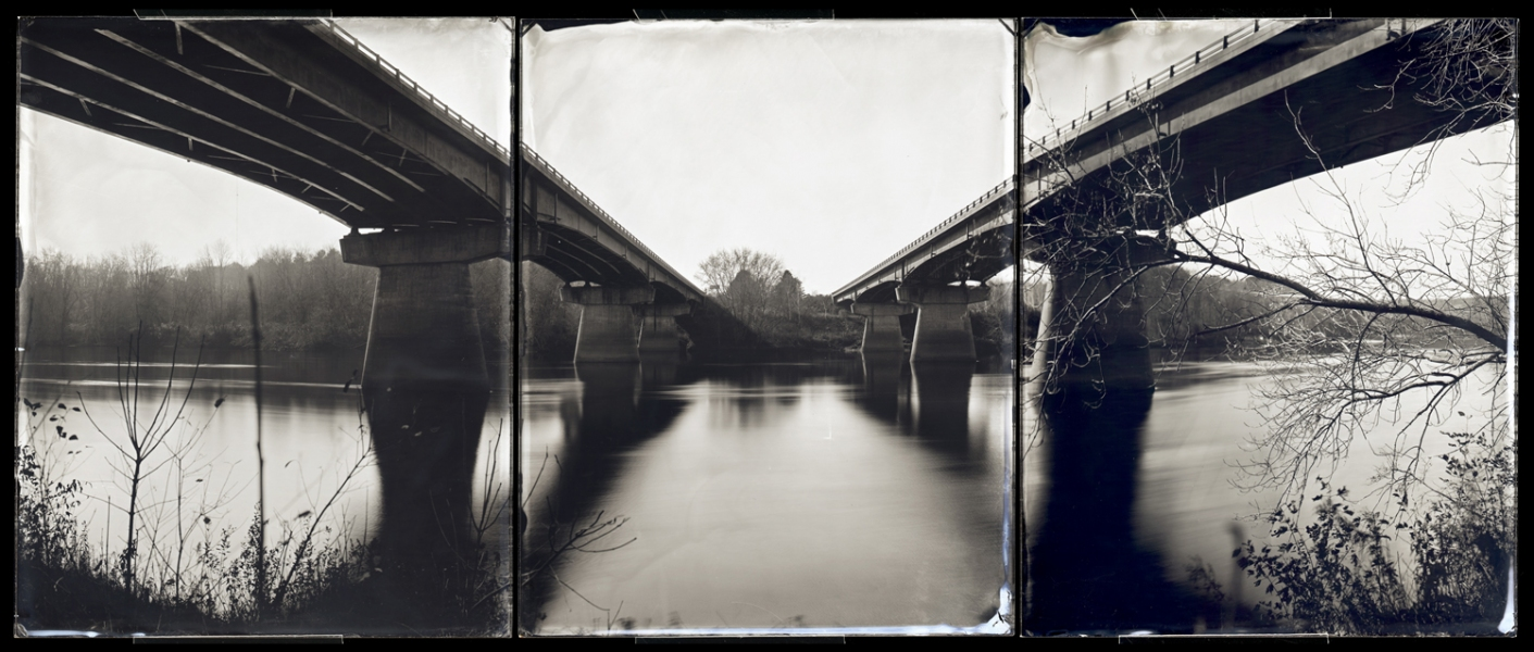 Michael Kolster Androscoggin River (ME) ambrotype triptych