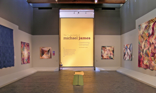 Michael James Studio Quilts In situ