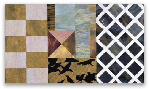 Michael James Studio Quilts Selected work 1985 - 1999 painted cotton; machine-sewn