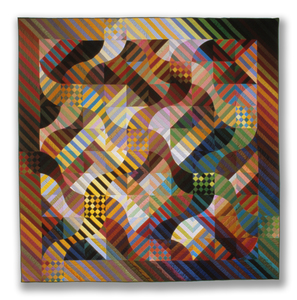 "Michael James Studio Quilts Selected work 1985 - 1999 100"" h x 100"" w"