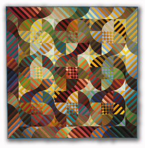 Michael James Studio Quilts Selected work 1985 - 1999 cotton & silk; machine-sewn