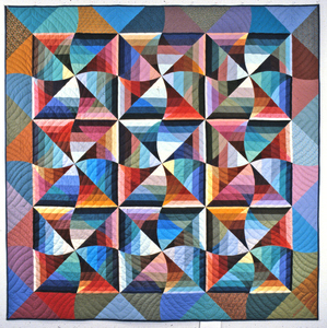 Michael James Studio Quilts Selected work 1975 - 1984 cotton; hand- and machine-sewn