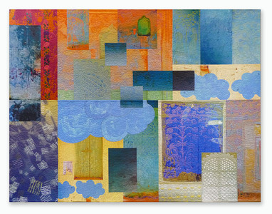 Michael James Studio Quilts India Through Beginner's Eyes cotton & reactive dyes; machine-stitched