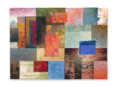 Michael James Studio Quilts India Through Beginner's Eyes cotton & reactive dyes; machine-sewn
