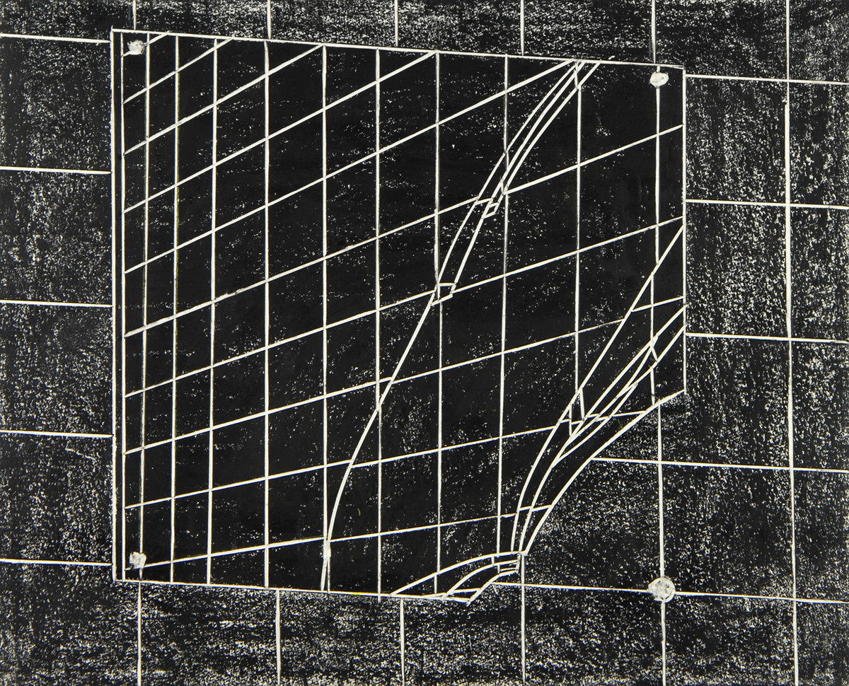 black drawings 2014-2015 China marker on cut and incised paper