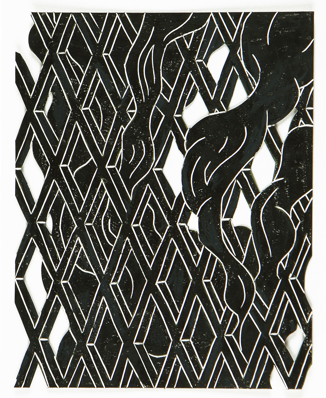 black drawings 2014-2015 Smoke & Lattice