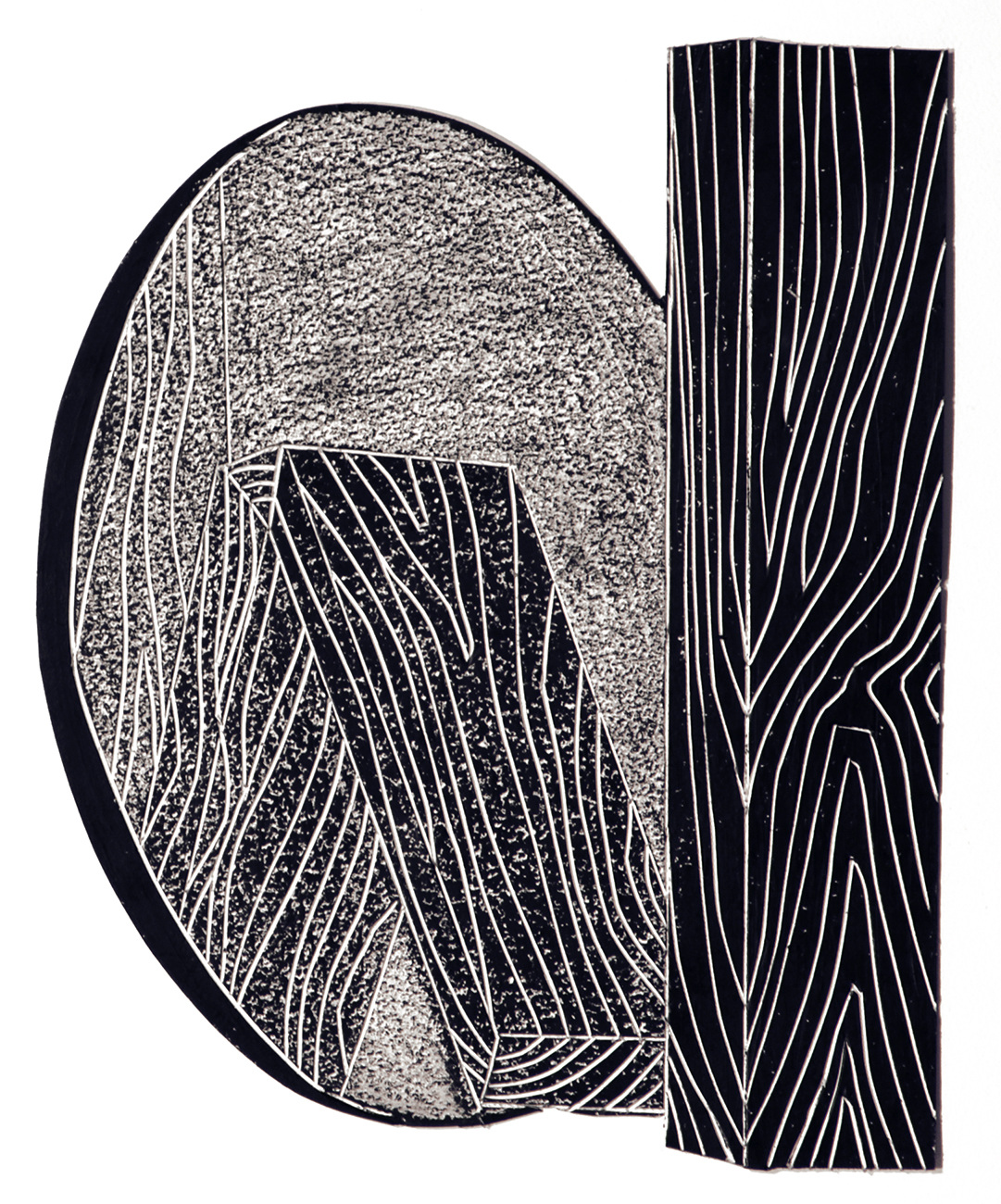 black drawings 2014-2015 2x4s and Oval Mirror