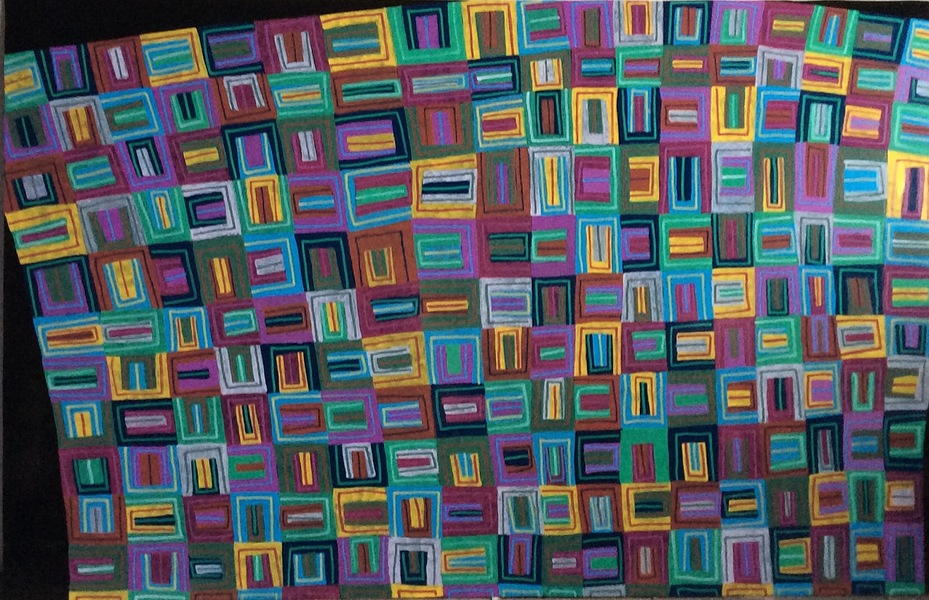 ABSTRACT PAINTINGS ON PLEXIGLASS Quilt