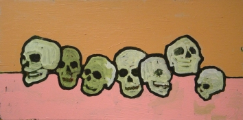 Michael Eudy memento mori acrylic on canvas