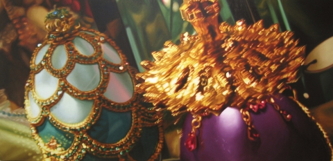 Faberge Egg Paintings Oil on Canvas