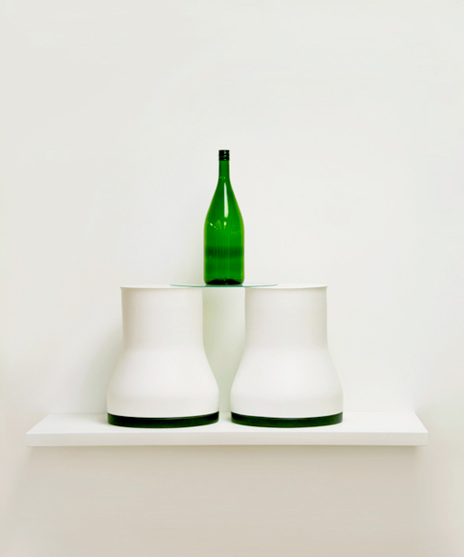 Mie Kongo 2010 - Bottles Earthenware, glaze, glass sheet, Sake bottle